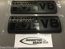 Toyota TUNDRA TRD PRO IFORCE 5.7L V8 Black Painted Emblems SET of 2 - OEM NEW!