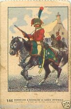 CHASSEURS A CHEVAL GARDE IMPÉRIALE NAPOLEON  IMAGE CARD 1950 COSTUME MILITAIRE