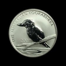 2007 Kookaburra 1oz Silver Bullion coin - BUNC in capsule with COA