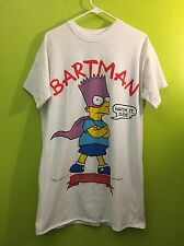 Vintage 1990 the Simpsons bart simpson Bartman  t-shirt size large skater