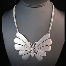 NEW ! Brighton Bay Silver Winter White Butterfly Necklace
