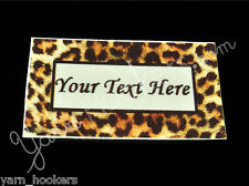 """Leopard Print - """"Iron On or  Sew In"""" - Cotton Fabric Labels - Yarn Friendly"""