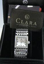 CLARA by CW Women's 12Z159CK MOP Dial CRYSTAL Accent Stainless Steel WATCH