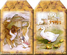 """12 """"EASTER"""" JEMIMA PUDDLE DUCK HANG / GIFT TAGS FOR SCRAPBOOK PAGES (17)"""