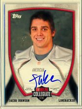 JACOB JOHNSON -  2013 Topps Collegiate NFLPA Bowl Game South Alabama AUTO