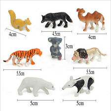 8Pcs/Set Simulation Animal Lion Koala Camel Model Toys For Children Kids Gift