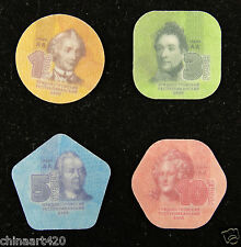 TRANSNISTRIA Transdniestria Plastic Coin Set of 4 Pieces 2014 UNC,1 3 5 10 Ruble