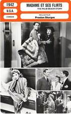 FICHE CINEMA : MADAME ET SES FLIRTS - Colbert,McCrea 1942 The Palm Beach Story