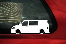 2x LOW VW T5 Kombi Transporter van volkswagen outline stickers,Lowered VAG Decal