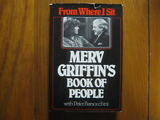 MERV GRIFFIN(Wheel of Fortune)(Died-07)Signed  Book(From Where I Sit-1st Edition