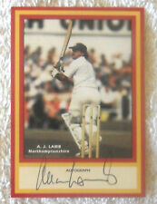 "ALLAN LAMB CRICKET SIGNED IN PERSON COUNTY HOBBY CARD ""BUY GENUINE"""