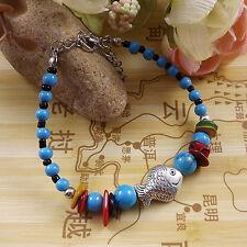 DIY NEW Fashion Free shipping Jewelry Tibet jade turquoise bead bracelet S240