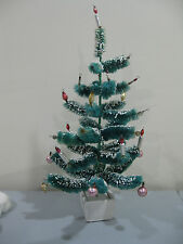 """Vintage Antique Bottle Brush Chenille Christmas Tree Ornaments 18.5"""" tall"""