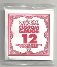 6 PACK ERNIE BALL CUSTOM GAUGE 12 SINGLE STRINGS ELECTRIC / ACOUSTIC