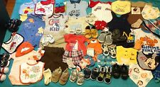 58-Piece BOYS (( NEWBORN - 6 MONTHS )) Used + New. Shoes Clothes ~ SUMMER LOT