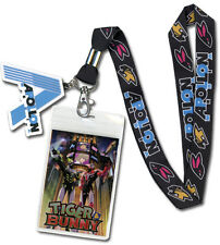 *NEW* Tiger & Bunny Apollon Media Cell Phone Lanyard w/ Rubber Charm & ID Holder