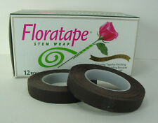 "Professional Florist 2 Rolls Brown Floral Tape 1/2"" Wedding Corsages"
