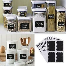 Lots 36pcs Black Chalkboard Blackboard  Stickers Decals Craft Kitchen Jar Labels