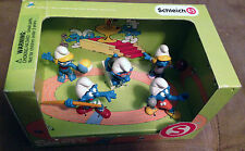 SMURFS schleich sports olympics 5 javelin swimmer vollyball gymnastics smurf NEW