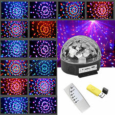 RGB LED MP3 DJ Club Pub Disco Party Music Crystal Magic Ball Stage Effect Light
