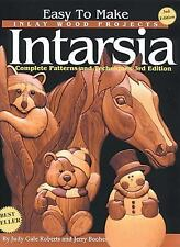 Easy to Make Inlay Wood Projects--Intarsia: A Complete Manual with Patterns, Boo