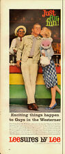 1950's Vintage ad for Leesures by Lee/Clothing/Couple/Carnival/Kiss (070313)