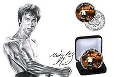 Bruce Lee-Fist of Fury Limited Edition JFK Kennedy medio dólar moneda Con Certificado De Autenticidad