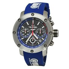 TW Steel TW924 Yamaha Special Edition Chronograph Fiber Dial Blue Strap Watch