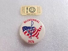 Vintage 1976 BICENTENNIAL United States of America Patriotic Pin Badge Button