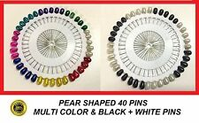 80 Mix Beads Pearl head Hijab pin Scarf pin Needlework art carft assorted Pins