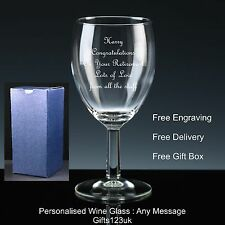 Personalised 11oz Wine Glass, Retirement / Leaving Gift