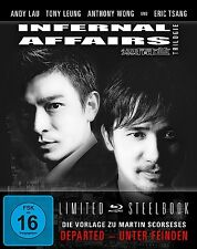 INFERNAL AFFAIRS TRIOLOGIE LIMITED-Anthony Wong, Andy Lau, Tsang 3BLU-RAY NEU