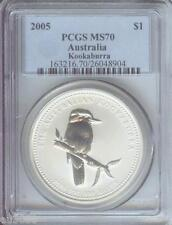 2005 $1 AUSTRALIA KOOKABURRA 1 Oz. SILVER BULLION COIN ONE DOLLAR PCGS MS70