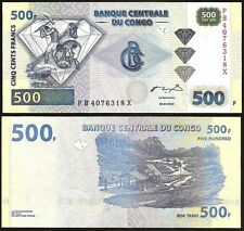 CONGO DEMOCRATIC REPUBLIC  500 Francs 2002 UNC P 96 b