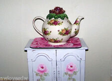 ❤❤ RARE 1996 ROYAL ALBERT OLD COUNTRY ROSES EARTHENWARE TEAPOT LID - TOP ONLY ❤❤