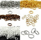 4/5/6/7/8/10/12mm Wholesale Split Jump Rings Open Connectors Beads Jewel Crafts