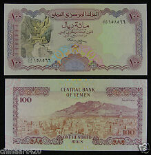 Yemen Arab Republic Paper Money 100 Dinars 1993 UNC, See the Signature