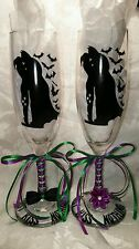 BATMAN AND HARLEY QUINN Custom Wedding Glasses