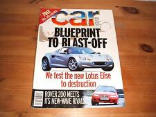CAR MAGAZINE JAN-1996 - Lotus Elise, Rover 200Vi, Megane Coupe, Volvo 850R, Niva
