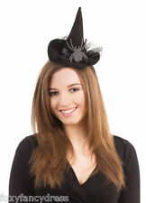 Deluxe DIAMANTE SPIDER HAT on Headband Witch Witches Halloween Fancy Dress