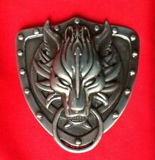 3D FINAL FANTASY WOLF WOLFS HEAD GOTHIC CELTIC WOLVES GREY BELT BUCKLE