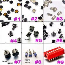 9Value Rocker Switch Toggle Switch Push Botton Switch Assortment Kit DIY QTY 122