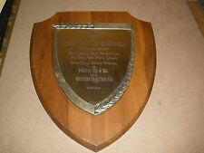 1970 moon walk Uncle Tom pacific telephone telegraph Western Electric PLAQUE