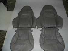 1997-2004 C5 Corvette Genuine Leather Grey Perforated Seat Cover for Sport Seats