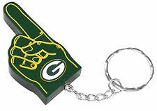 Green Bay Packers #1 Finger Keychain Key Chain Ring NFL Licensed NIP