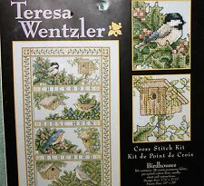 BIRDHOUSES cross stitch kit TERESA WENTZLER Leisure Arts NIP htf