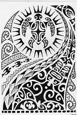 Einmal Tattoo Fake Tattoo Tribal Motiv wasserfest Temporary Tattoo (HB-523)