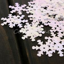 100pcs Iridescent Snowflake Confetti Sequins Christmas Frozen Card Scrapbooking