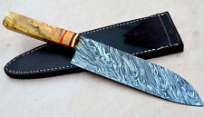 Damascus steel BLADE HANDMADE KITCHEN KNIFE/CHEF KNIFE OLIVE WOOD HANDLE