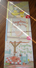 Set of 3 Angelina Ballerina Books (Penny, Rag Doll and Wings) –NEW